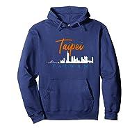 Taipei Skyline Taiwan T Shirt Hoodie Navy