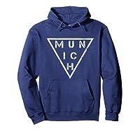 Munich T Shirt Germany Bavarians Distressed Vintage Tee Hoodie Navy