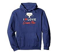 I Love Cream Pies Shirt   Swinger Bdsm Cuckold Creampie Raglan Baseball Tee Hoodie Navy