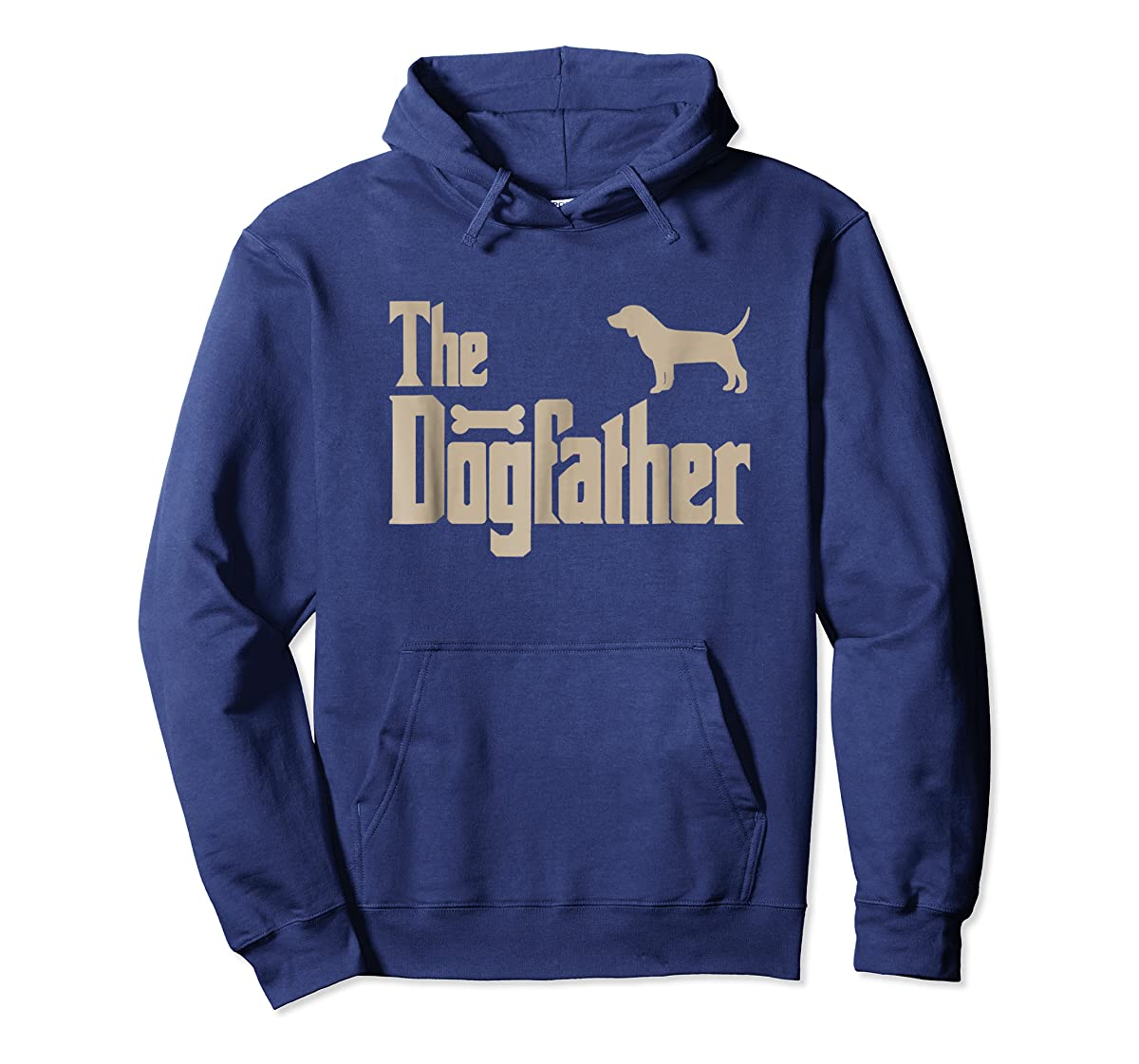 "Mens Beagle Dog Lovers Gifts ""The Dogfather"" Men Tee Shirts-Hoodie-Navy"