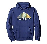 Retro Vintage Park City Utah T Shirt Distressed Premium T Shirt Hoodie Navy