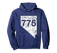 Carson City Reno Sparks Area Code 775 Shirt Nevada Gift Hoodie Navy