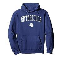 Antarctica Vintage City T Shirt Hoodie Navy