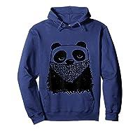 Panda Bandit Tshirt Hoodie Navy
