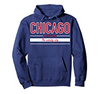 Chicago Flag T Shirt The Windy City Illinois Tee Hoodie Navy