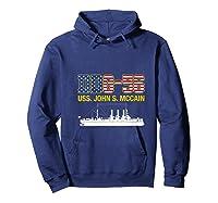 Ddg 56 Uss John S Mccain Shirts Hoodie Navy
