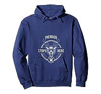 The Buck Stops Here - Happy-me T-shirt Hoodie Navy