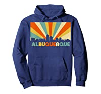 Albuquerque T Shirt City Skyline 70s Retro Souvenir Shirt Hoodie Navy