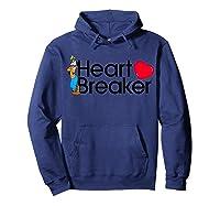 Disney Goofy Valentine Heartbreaker T Shirt Hoodie Navy