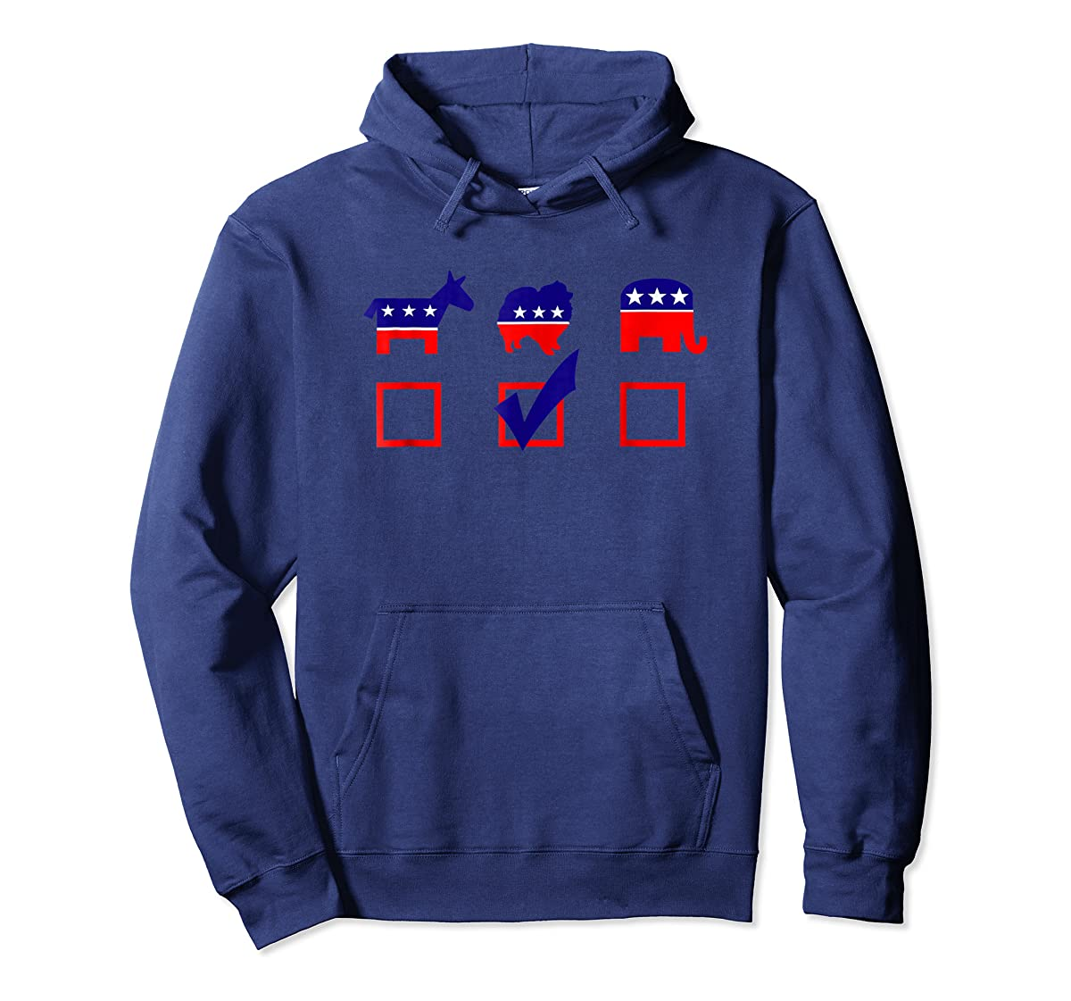 Vote Pomeranian For President T-shirt Cool Dog Lover Shirt-Hoodie-Navy