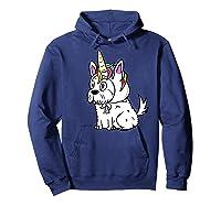 Bichon Frise Unicorn Hat Funny Dog Gift Shirts Hoodie Navy