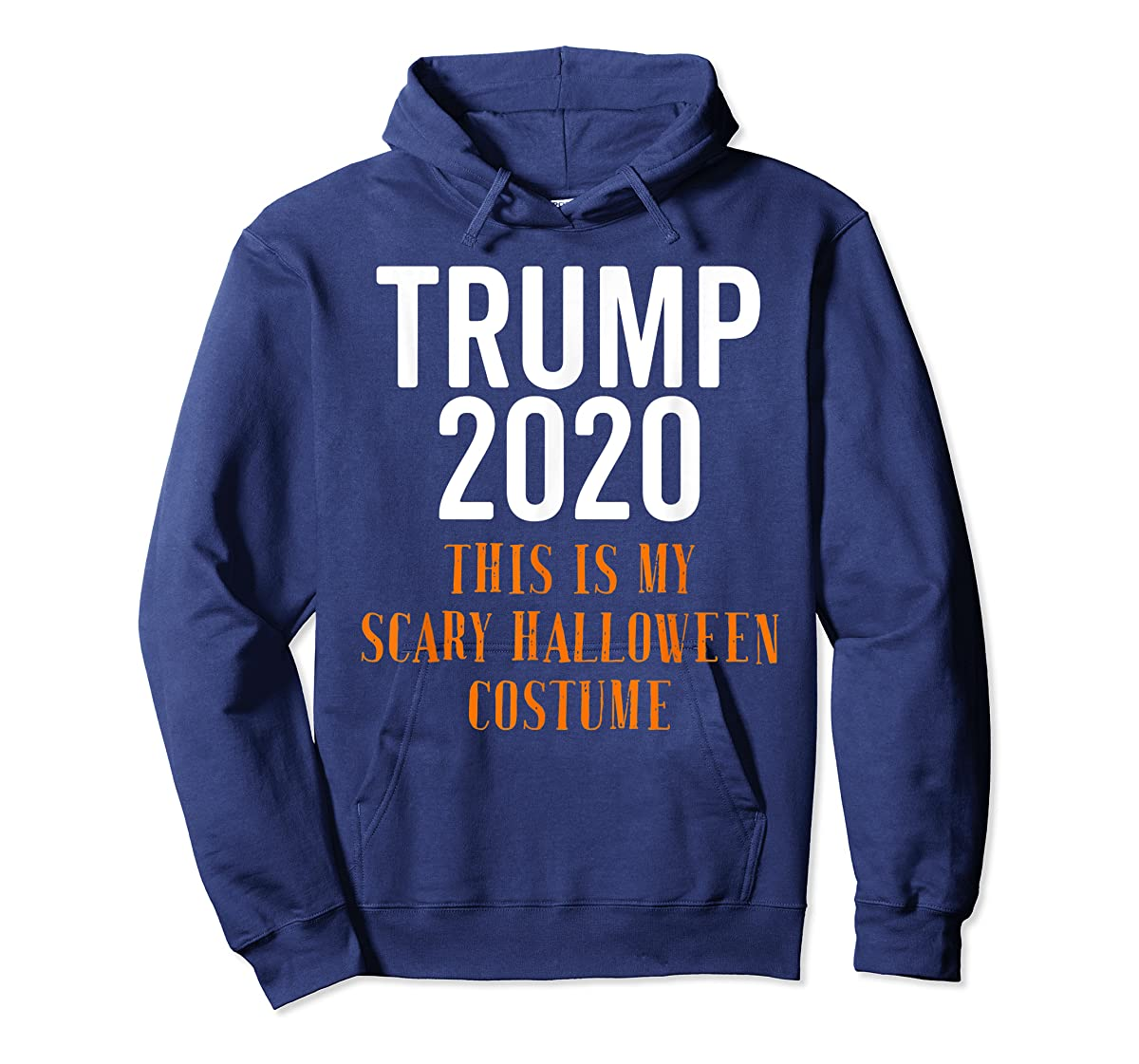 Scary Halloween No More Trump Funny Costume Anti Political T-Shirt-Hoodie-Navy
