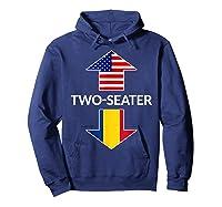 Romanian Two Seater Dad Joke Meme Gift American Flag Shirts Hoodie Navy