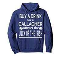 Gallagher Luck Of The Irish Namesake Family Gift T Shirt Hoodie Navy