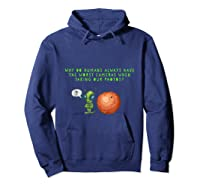 Aliens Questioning Humans Camera Quality Shirt Hoodie Navy