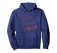 Disney Minnie Mouse Love T Shirt Hoodie Navy