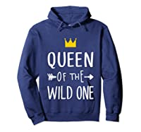 Queen Of The Wild One Thing 1st Birthday Gif Shirts Hoodie Navy