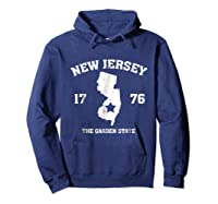 New The Garden State Vintage New Home Shirts Hoodie Navy