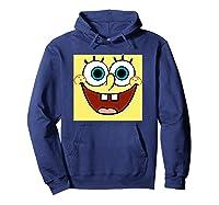 Nickelodeon Spongebob Open Smile Face T-shirt Hoodie Navy