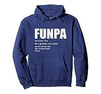 Funpa Definition Grandpa Fathers Day Gift Shirts Hoodie Navy