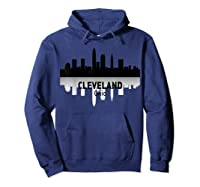 Cleveland Cleveland Skyline Native American Ther Shirts Hoodie Navy