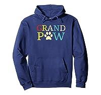 Vintage Grandpaw Grand Paw Gift Grandpa Father's Day Baseball Shirts Hoodie Navy