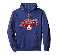 Tunisia Team World Fan Soccer 2018 Cup Fan T Shirt Hoodie Navy