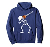 Halloween Dabbing Skeleton Football Dab Soccer Ball Shirts Hoodie Navy