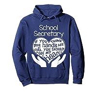 School Secretary Clerk Office Heart Group Gift Shirts Hoodie Navy