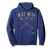 Mile High City Denver Premium T Shirt Hoodie Navy