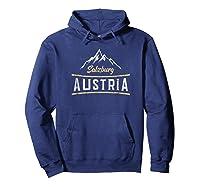 Austria Salzburg Skiing Vacation Shirts Hoodie Navy