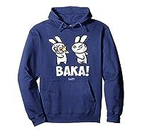 Funny Anime Baka Rabbit Baka Japanese Anime Lover Shirt Hoodie Navy