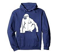 Huge Gorilla T-shirt Hoodie Navy