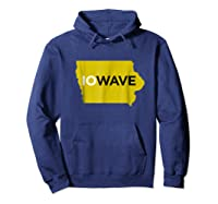 State Of Iowa Iowave Wave T For Fans And Residents Shirts Hoodie Navy