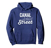 Canal Street Sign New York City Skyline Shirt For New Yorker Hoodie Navy