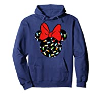 Disney Minnie Lights Up T Shirt Hoodie Navy