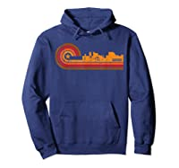 Retro Bangor Cityscape Bangor Me Skyline Shirts Hoodie Navy