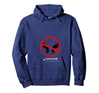 Black Freedom T-shirt Hoodie Navy