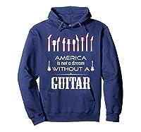 Patriot Guitarist T Shirt America Flag Guitar Hoodie Navy