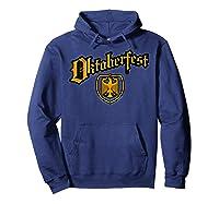 Oktoberfest German Eagle Shield Classic Vintage Shirts Hoodie Navy