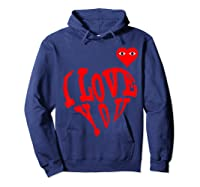 Heart For Comme Lovely In The Des Gift T-shirt Of Garcon Tee Hoodie Navy