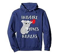 This Girl Loves Koalas Eucalyptus Bear Australia T-shirt Hoodie Navy