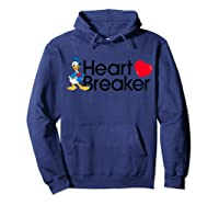 Disney Donald Valentine Heartbreaker T Shirt Hoodie Navy