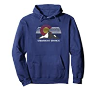 Steamboat Springs, Colorado X Co Flag Mtn Top T-shirt Hoodie Navy