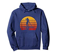 Stand Up Paddling Sup Vintage Sunset Paddle Board Gift Shirts Hoodie Navy