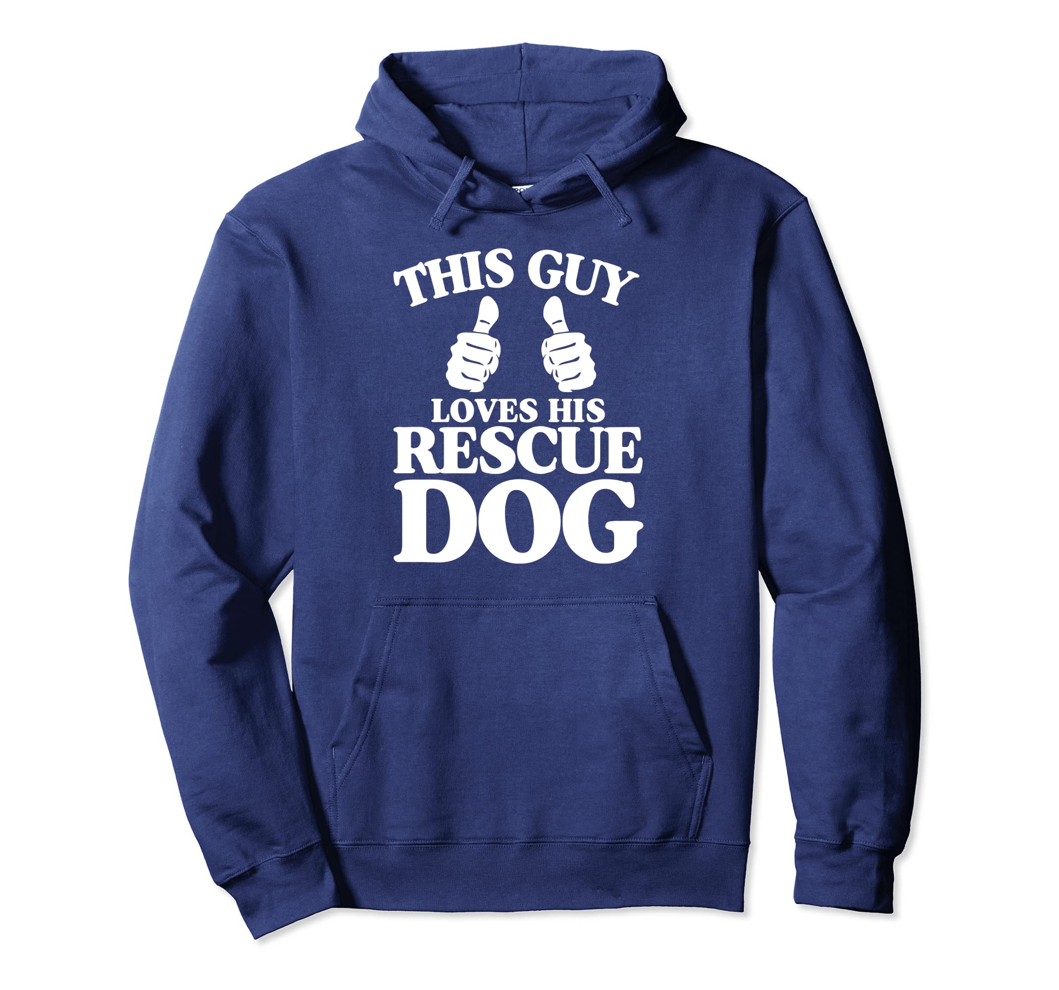 This Guy Loves His Rescue Dog Lover Gift Pullover Hoodie-SFL
