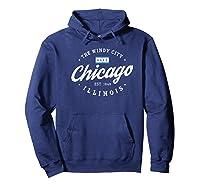 Chicago Shirt The Wind City Chicago Illinois Gift Shirt Premium T Shirt Hoodie Navy