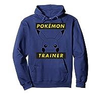 Pokemon Pikachu Trainer T-shirt Hoodie Navy