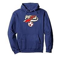 Peru Team World Fan Soccer 2018 Cup Fan T Shirt Hoodie Navy