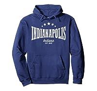 Indianapolis In Shirt Distressed Vintage Home City Pride Hoodie Navy